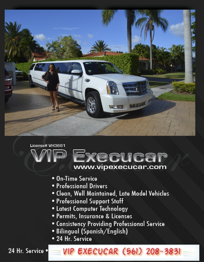 Limousine Transportation and Rental Services in Fort Lauderdale FLORIDA , SUV; 6 Passenger Limousine; SUV Sedan; Cadillac Escalade; Van - 10 to 15 Pass.