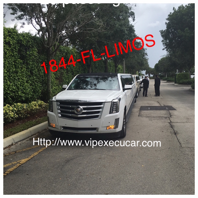 VIP EXECUCAR Limo offers Limousine Services to West Palm Beach, MIAMI, Port Everglades, port of Miami,Deerfield Beach,