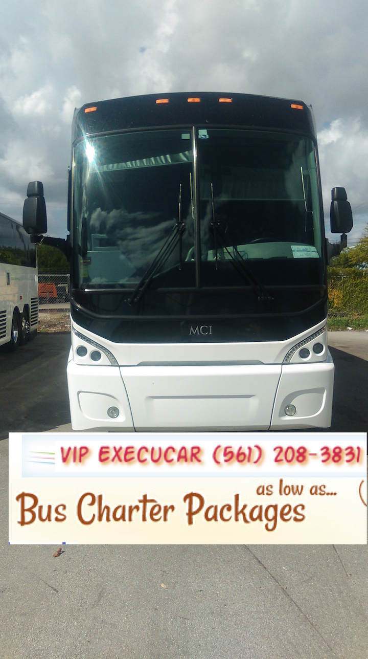 charter bus, charter bus in  Boca Raton, Charter bus in West Palm Beach