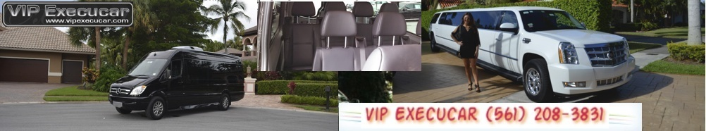 Boca Luxury Limo Vip Execucar  Limousine wants to be your number one limo service in Miami, We have the largest selection of Mercedes Benz limousines in South Florida. Our Sprinter Mini Bus hold up to 15 passengers, and come with our an award-winning TracVision Limousine satellite TV system on board, In-motion reception of DIRECTTV's, provides live news, sports, and entertainment for our executive clients. Party Bus rentals in South Miami are most popular around South Beach ,  Suburban and Lincoln Sedan are popular for all events.