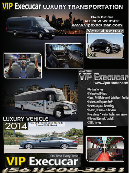 Boca Raton wedding limo