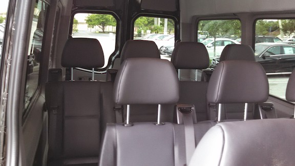 Mercedes Sprinter Van leather seats