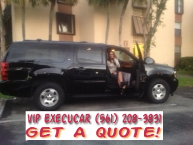 Palm Beach Airport PBI suv limo