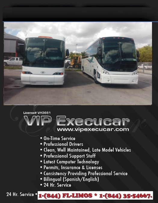 Miami Charter Bus Companies Motorcoach Transportation Services Vip Execucar Bus Lines