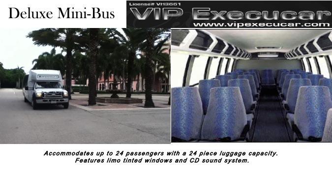 Motor Coach Deluxe Miami Limo Vip Execucar Limousine