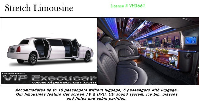 Treat yourself to a luxury lincoln  limo car rental from Vip Execucar of AVENTURA FL
